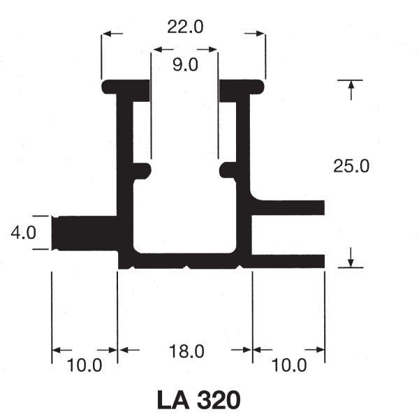 Aluminium Medium interlocking sign fix channel LA320