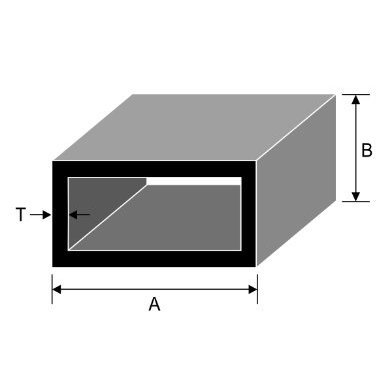 200 x 45 x 3mm Rectangular Hollow Section