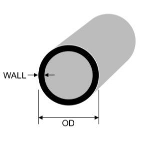 15mm x 2mm Aluminium Round Tube